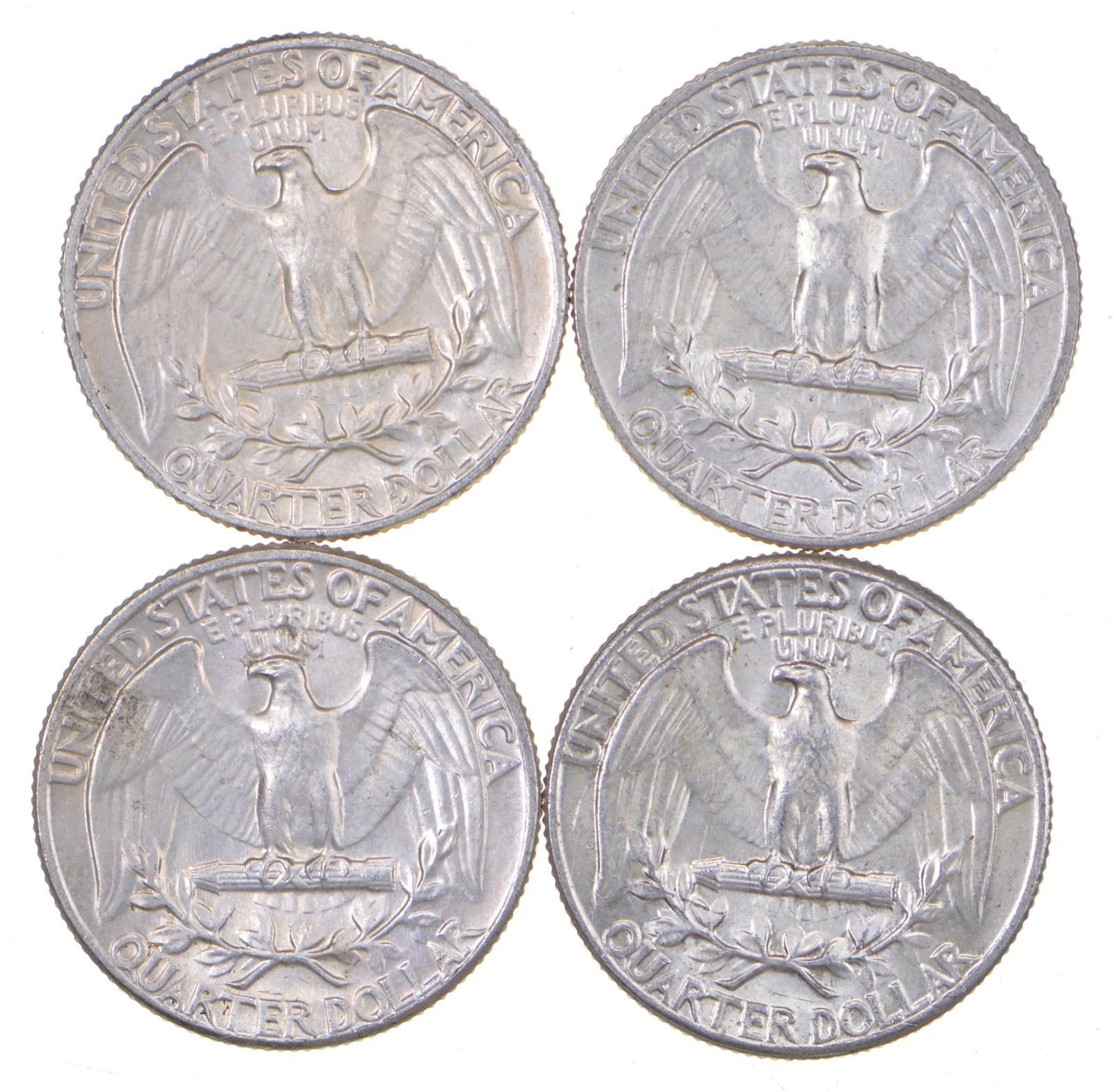 $1 Face 90/% Silver Washington Quarters BU