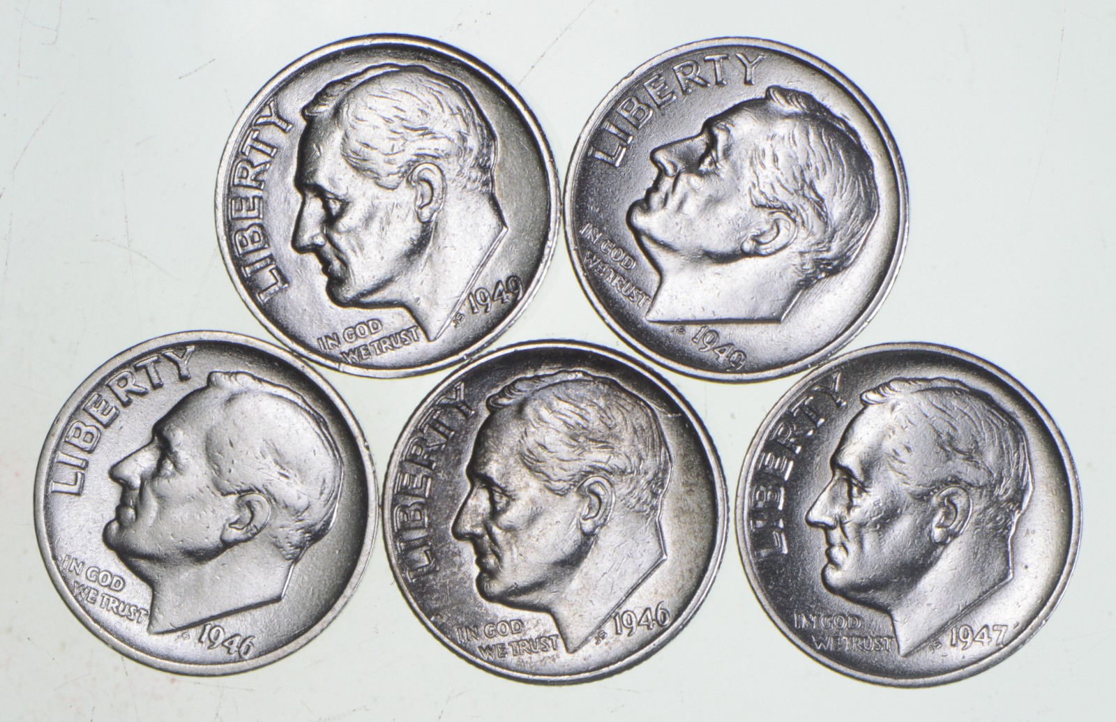 2001 P D S Roosevelt Dimes Proof /& BU From Mint Sets Combined Shipping