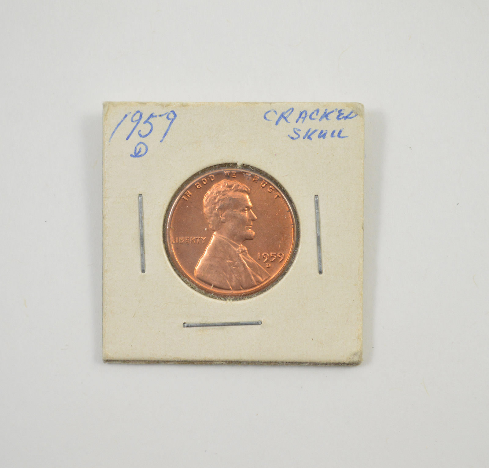 Major Error: 1959-D Lincoln Memorial Cent - Die Crack on