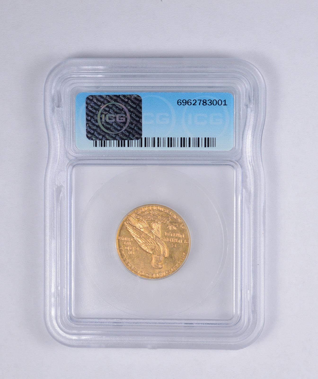 jjxx.com_MS64 1909-D $5.00 Indian Head Gold Half Eagle - JJXX - Graded ICG | Property Room