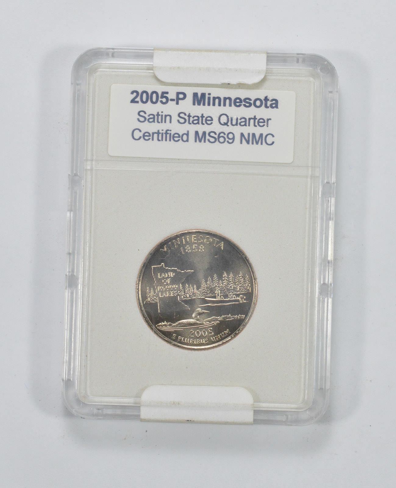 2005-P MINNESOTA SATIN FINISH QUARTER 25c PCGS MS69