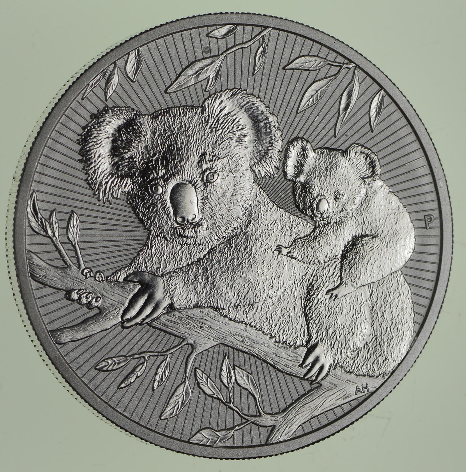 Australian Koala Next Generation BU coin .9999 ultra fine silver 2018 2 oz