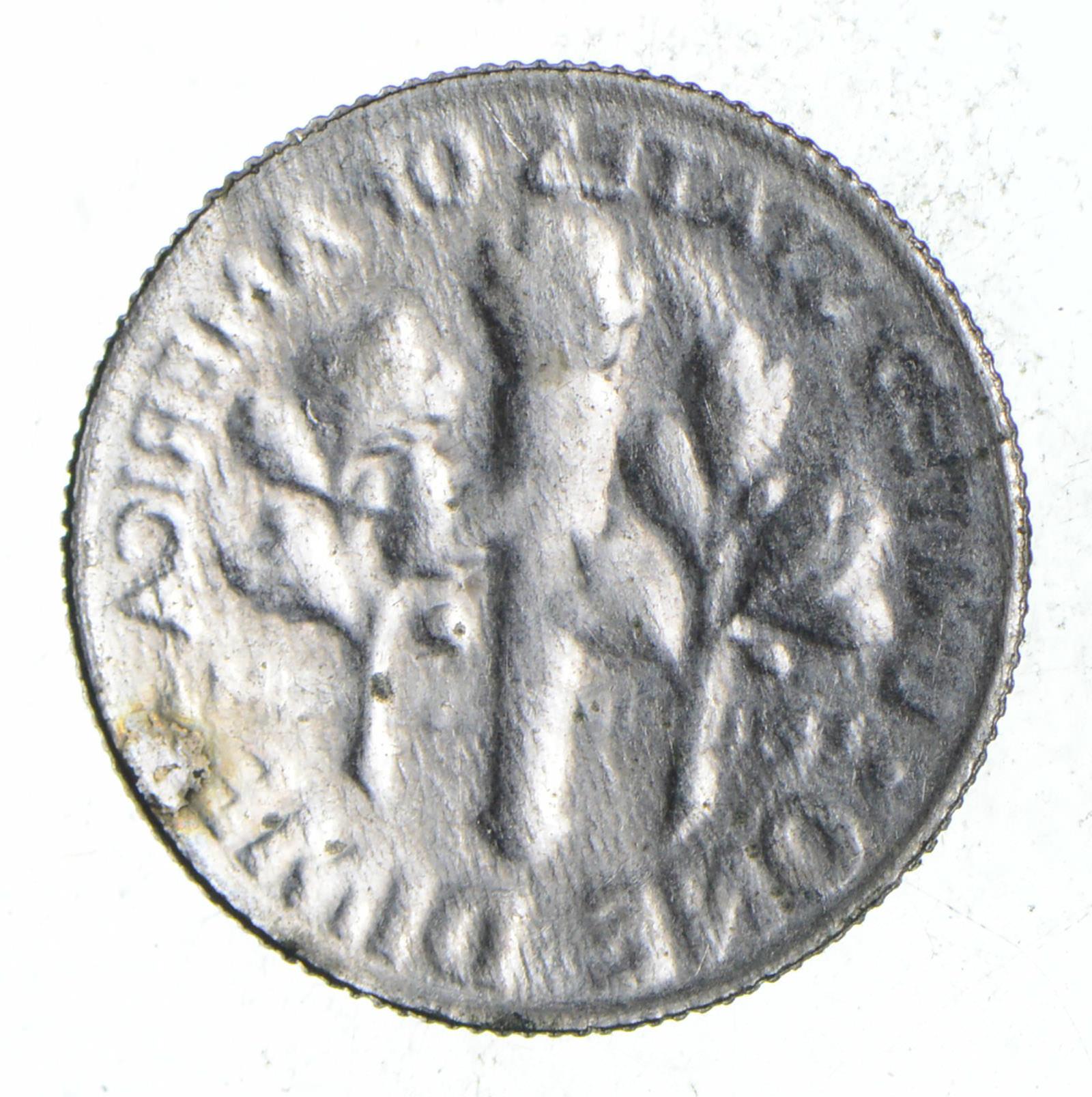 No Date Roosevelt Dime - Mint Error: Brockage - US Coin