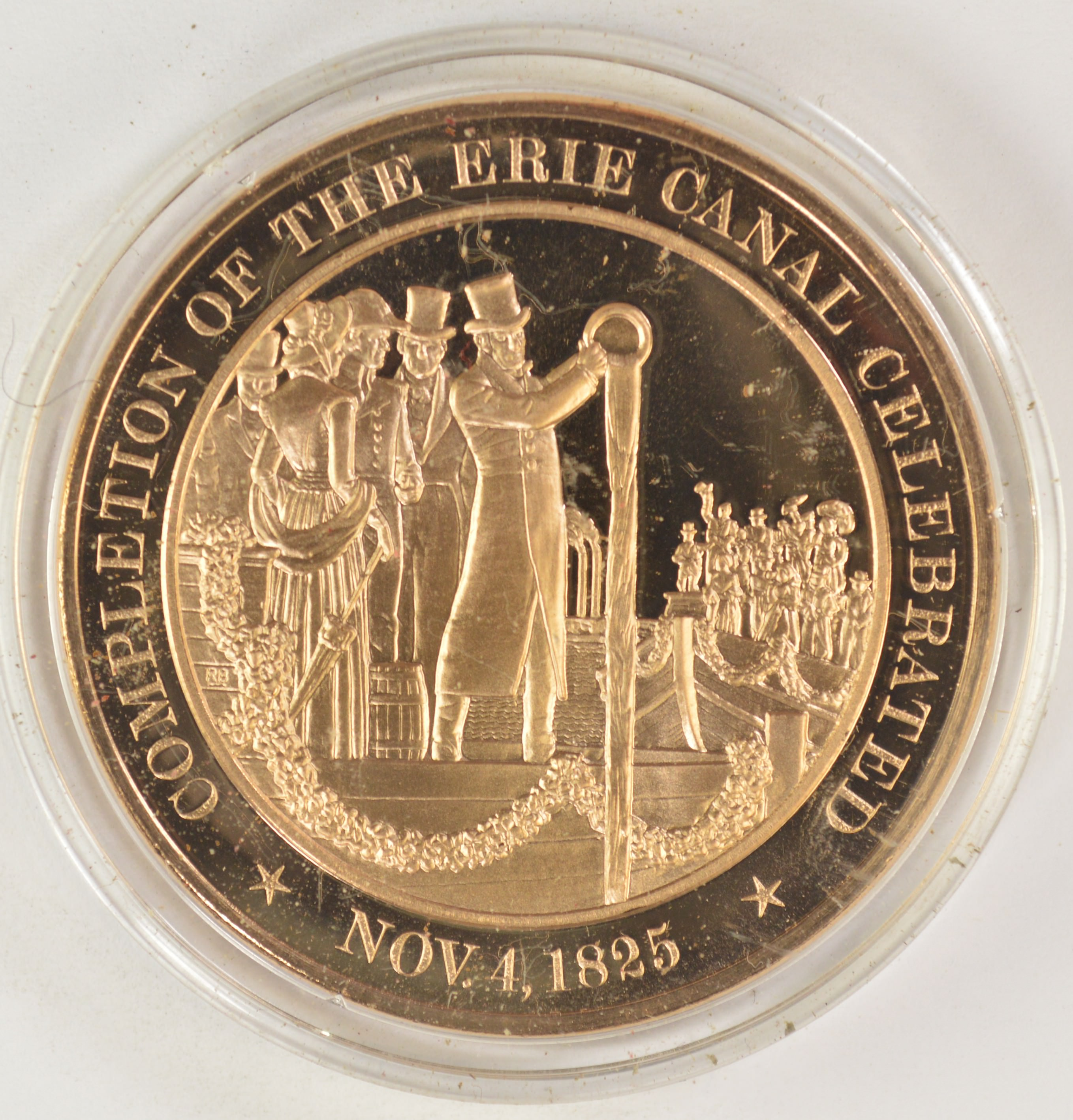 Nov  4, 1825 Completion Of The Erie Canal Celebrated - Bronze