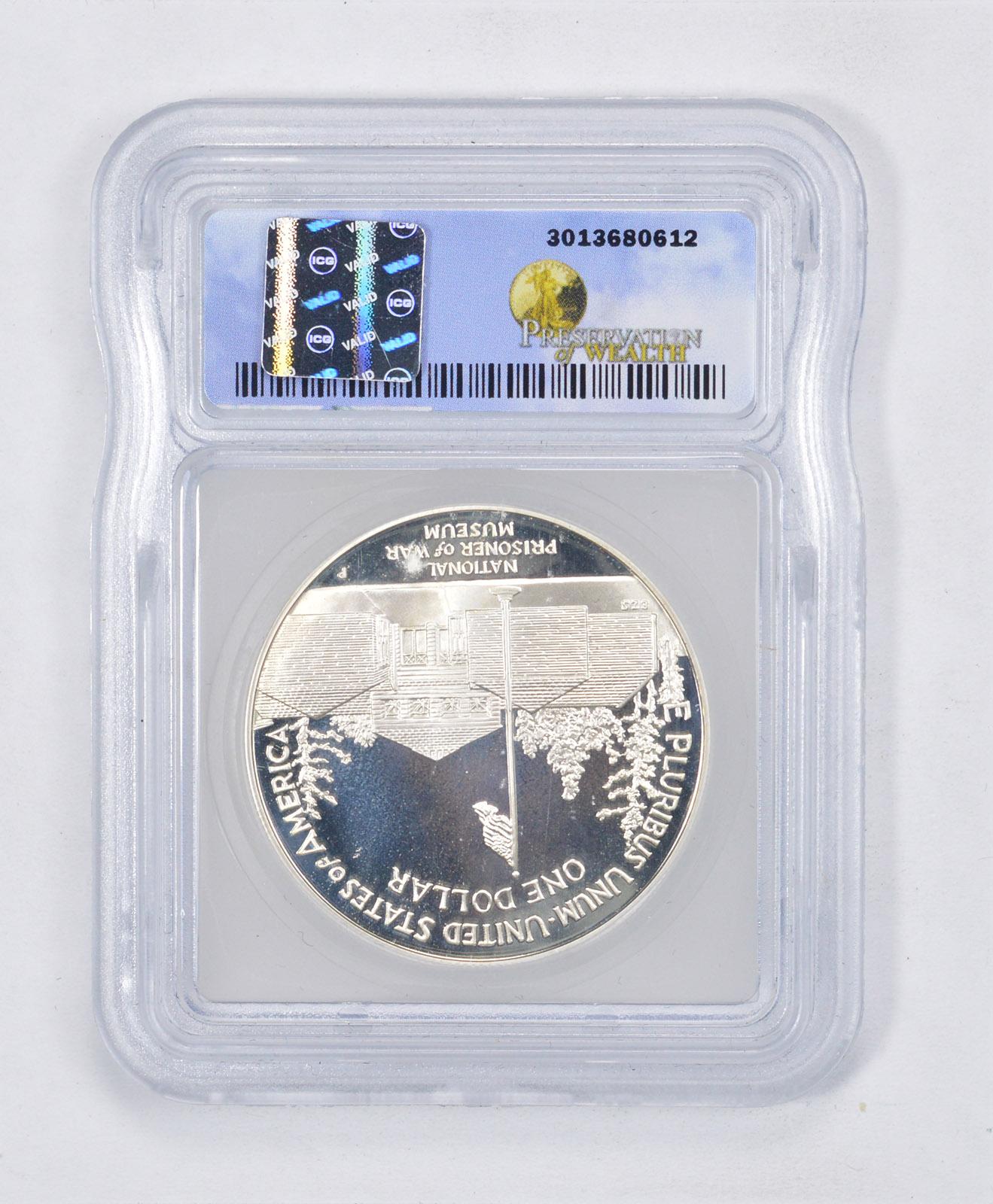 1994-P US Prisoner of War Commemorative Proof Silver Dollar PCGS PR69 DCAM