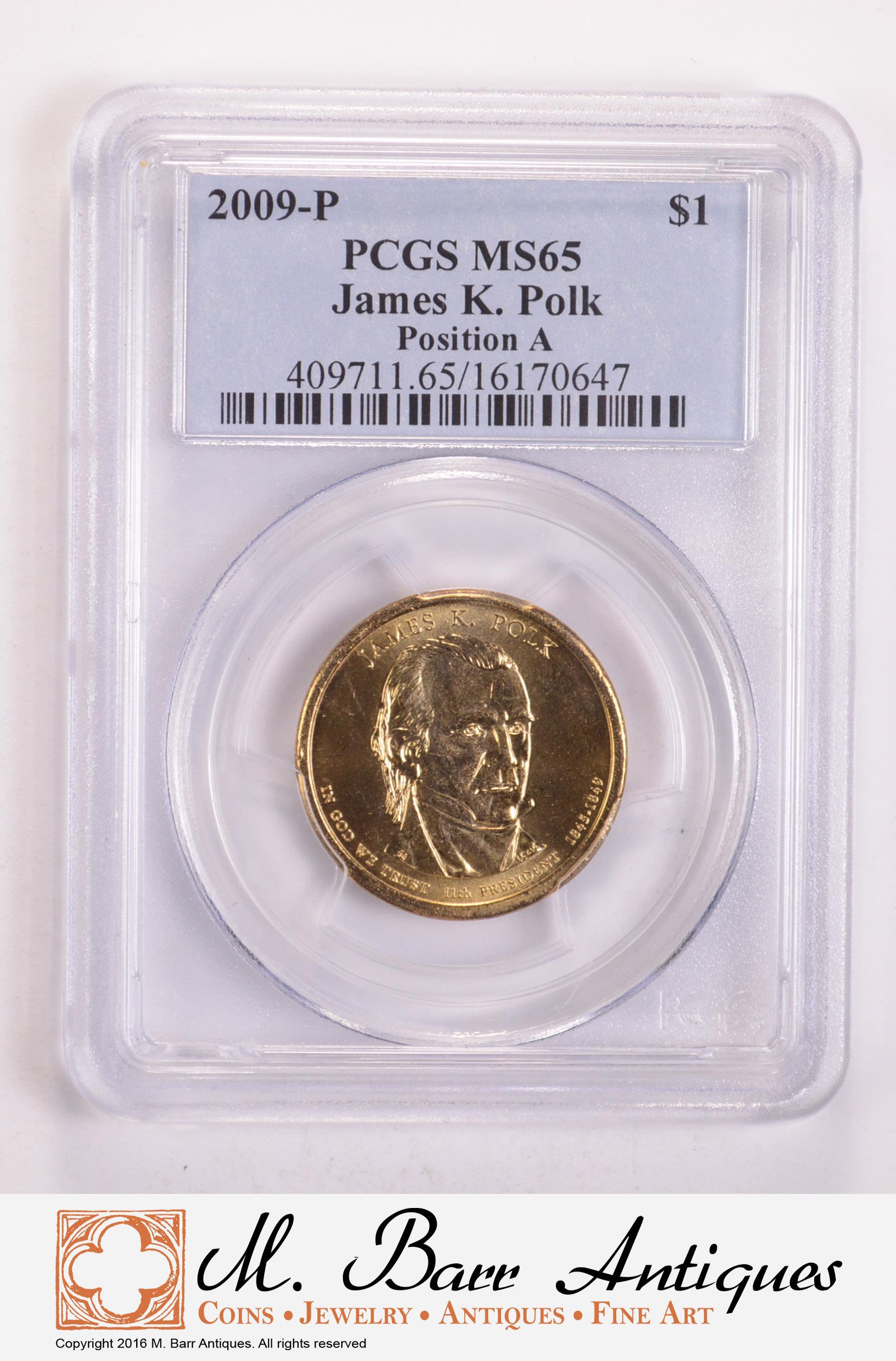 2009-P PCGS MS65 JAMES K POLK POSITION A