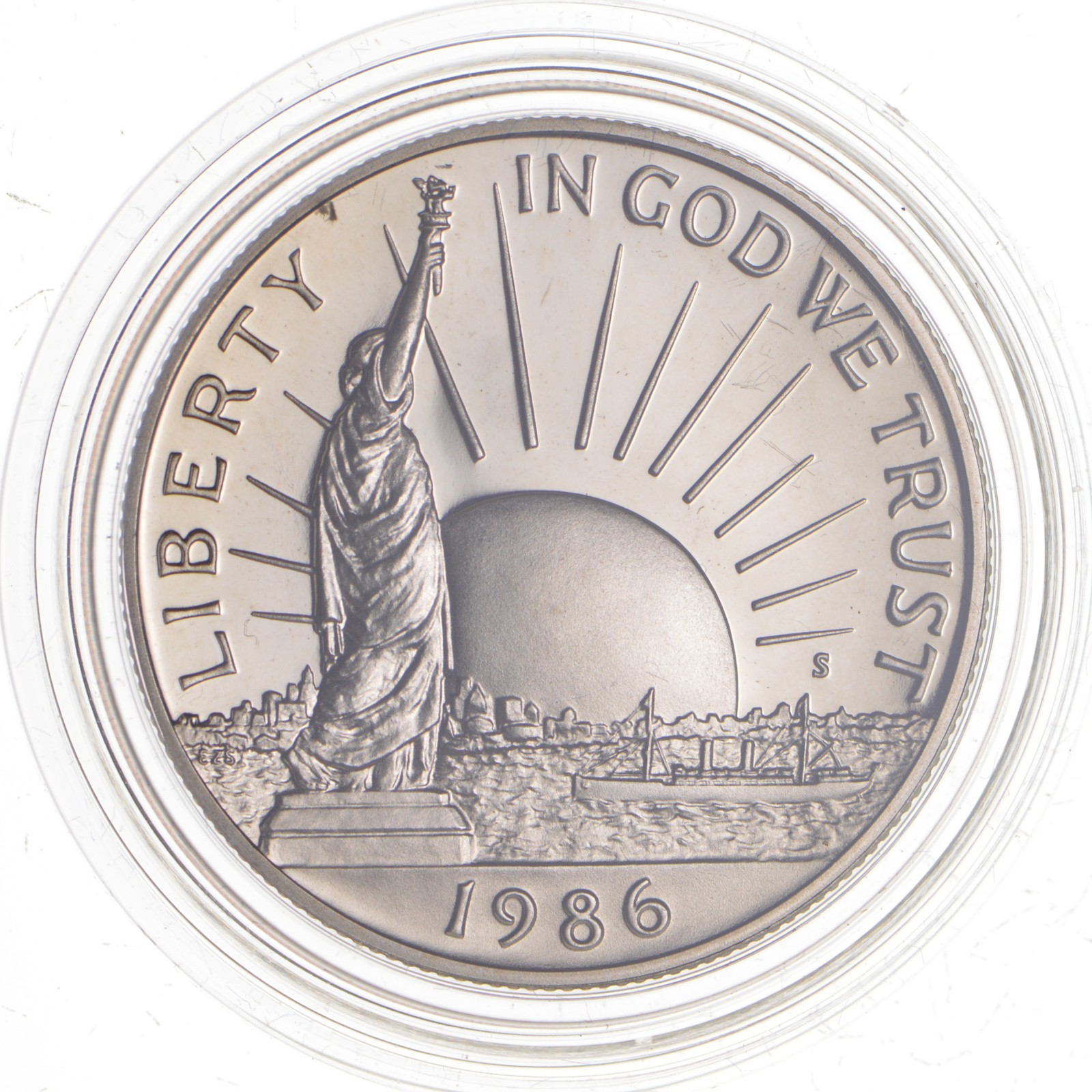 1986 Statue of Liberty Commemorative Half Dollar Proof  Coin in Capsules