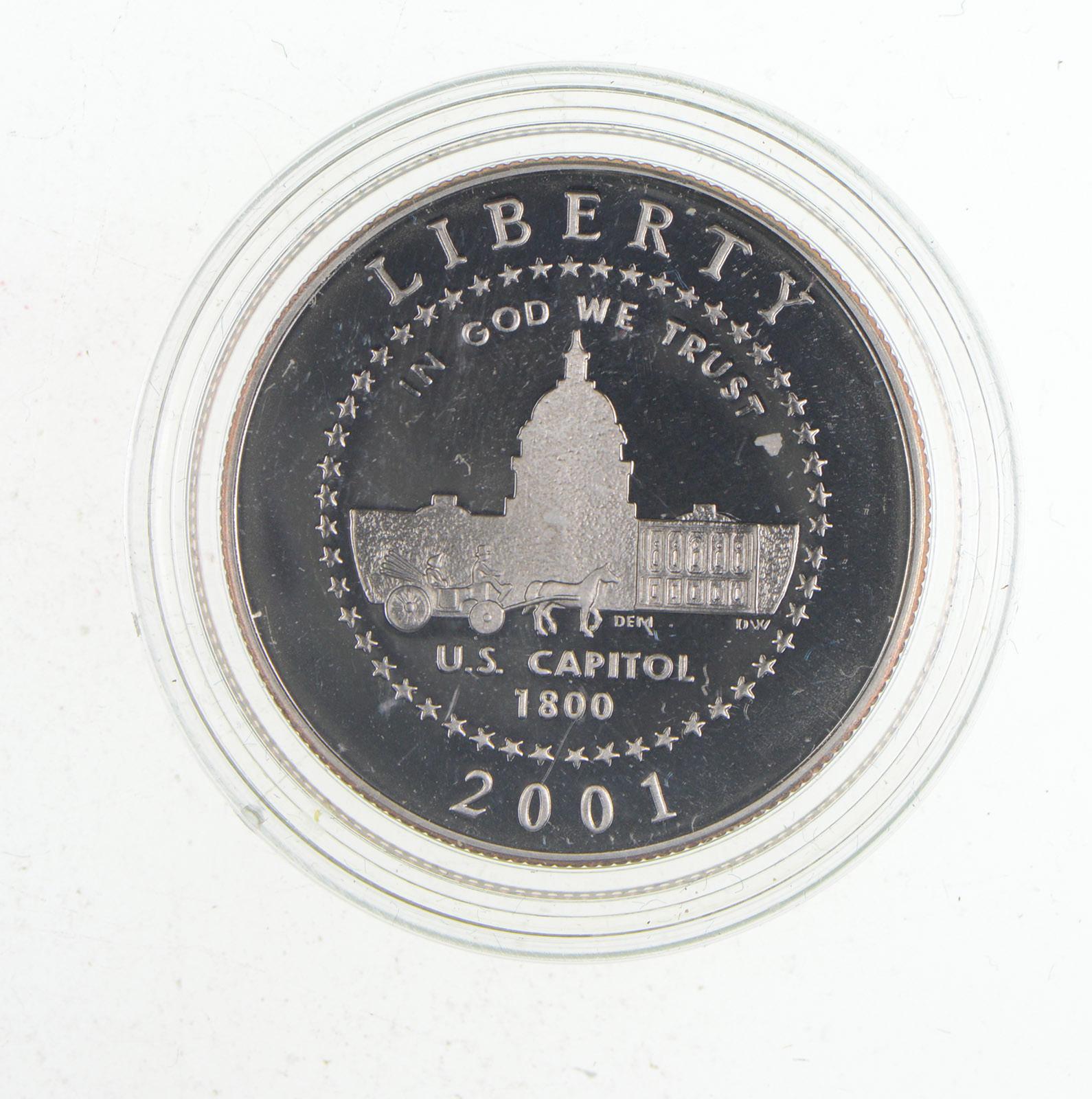 2001-P Capitol Visitor Center Silver Commemorative Dollar PR69DCAM PCGS Proof 69