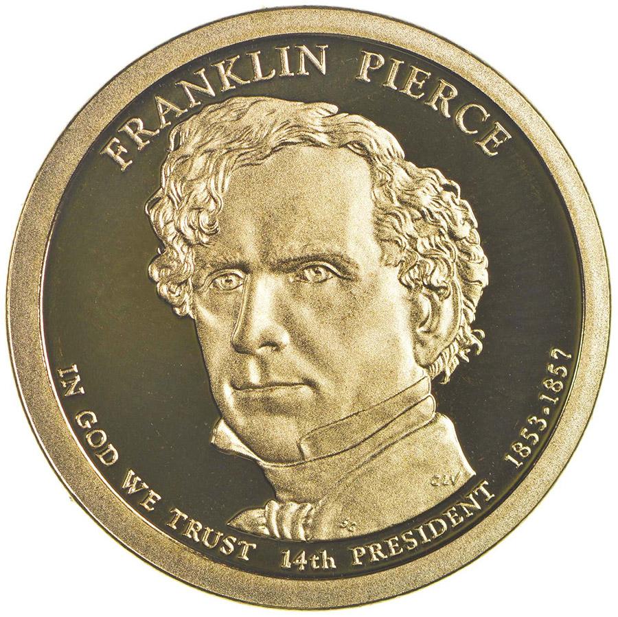 2010-S FRANKLIN PIERCE PRESIDENTIAL $1 NGC PF70 ULTRA CAMEO