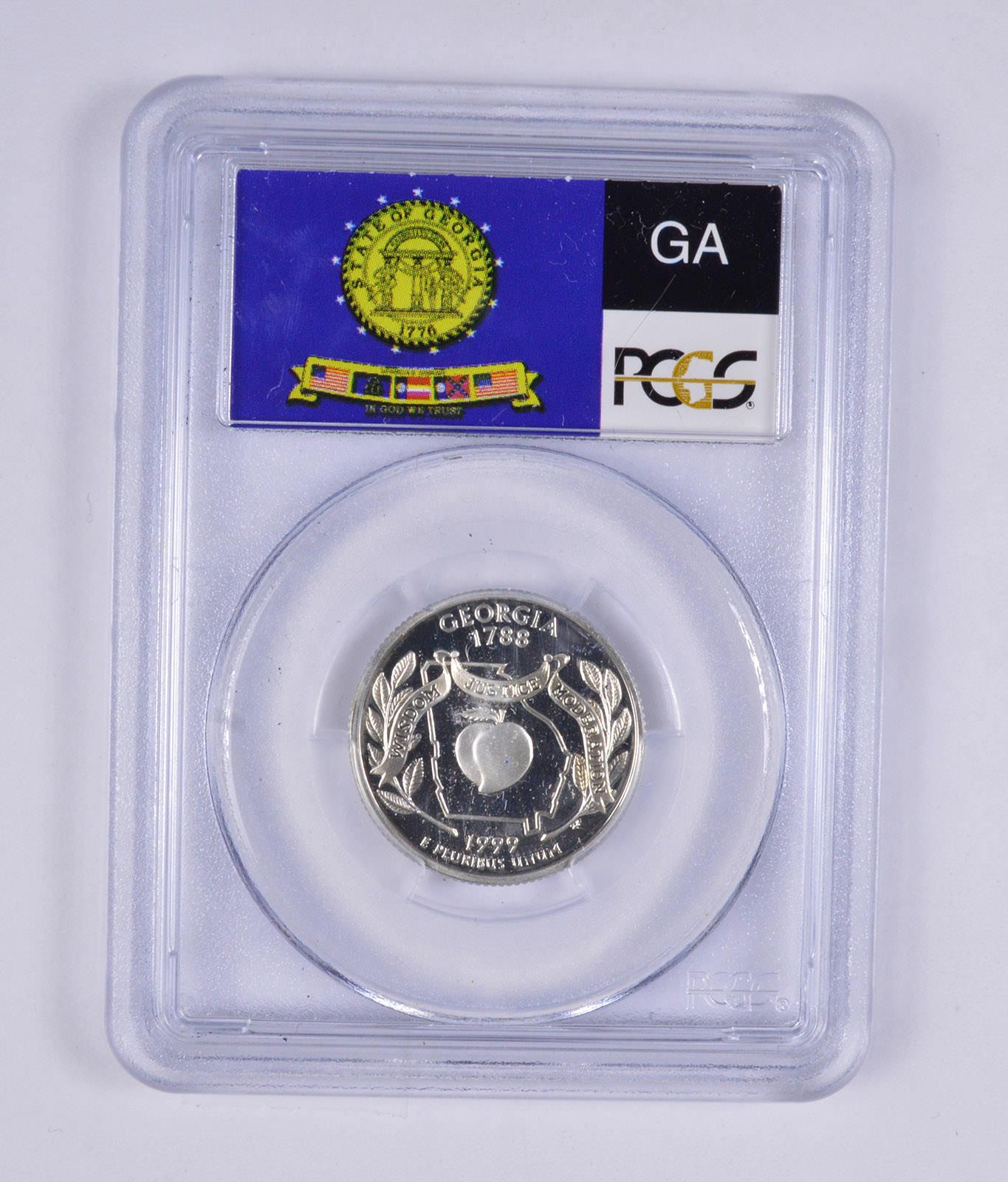 1999-S GEORGIA SILVER PROOF QUARTER 25c PCGS PR69DCAM