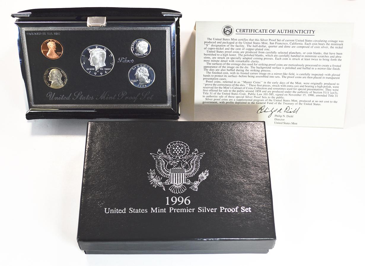 1996 UNITED STATES PROOF SET ORIGINAL PACKAGING