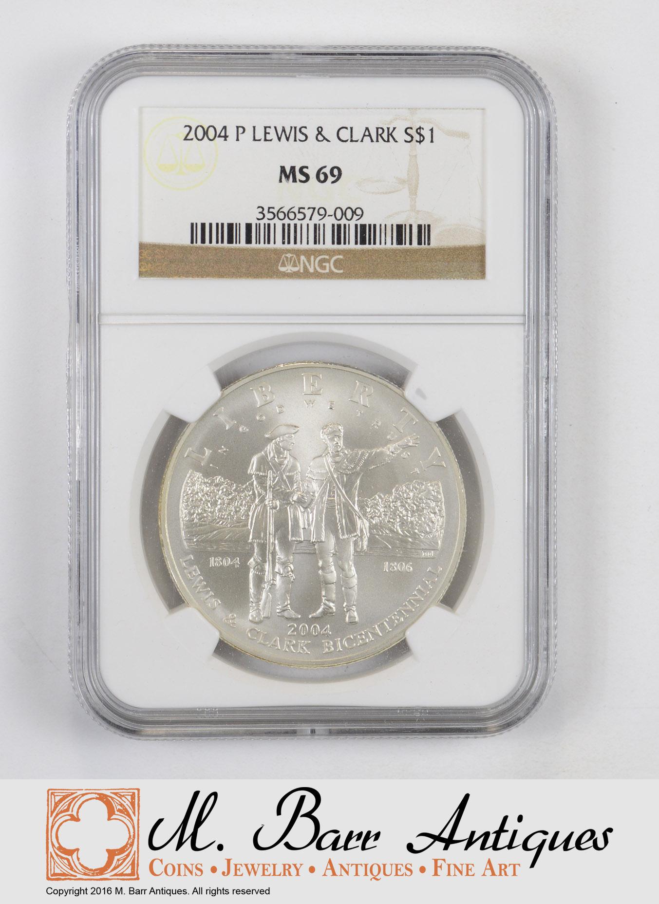 2004 P Lewis /& Clark Commemorative Silver Dollar NGC MS69