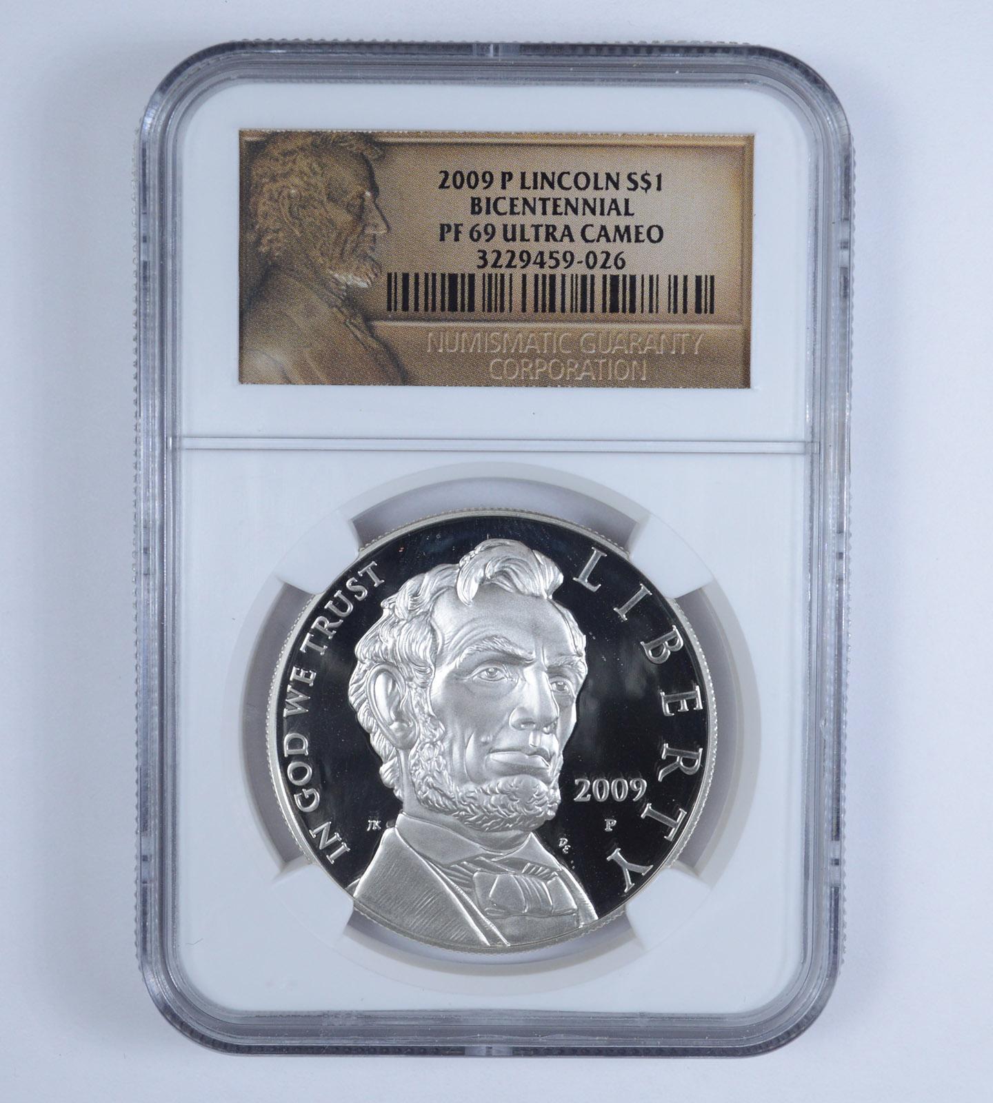 2009 P Lincoln Bicentennial Silver Dollar NGC PF70 Ultra Cameo