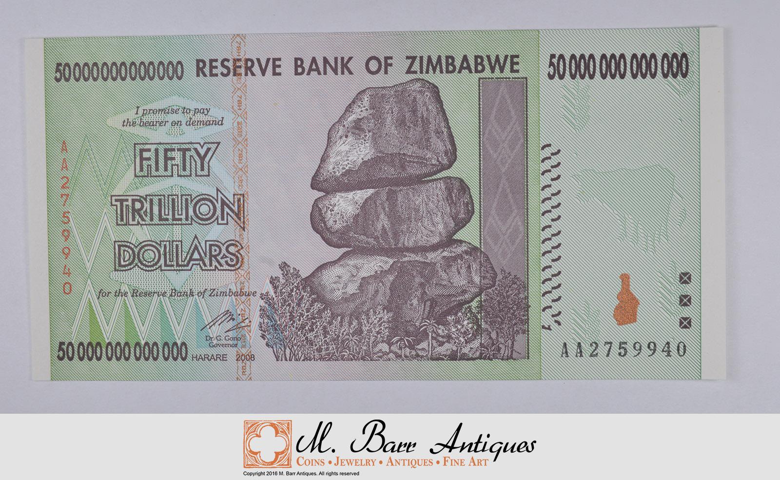 Image 1 Of 2 Rare 50 Trillion Dollar