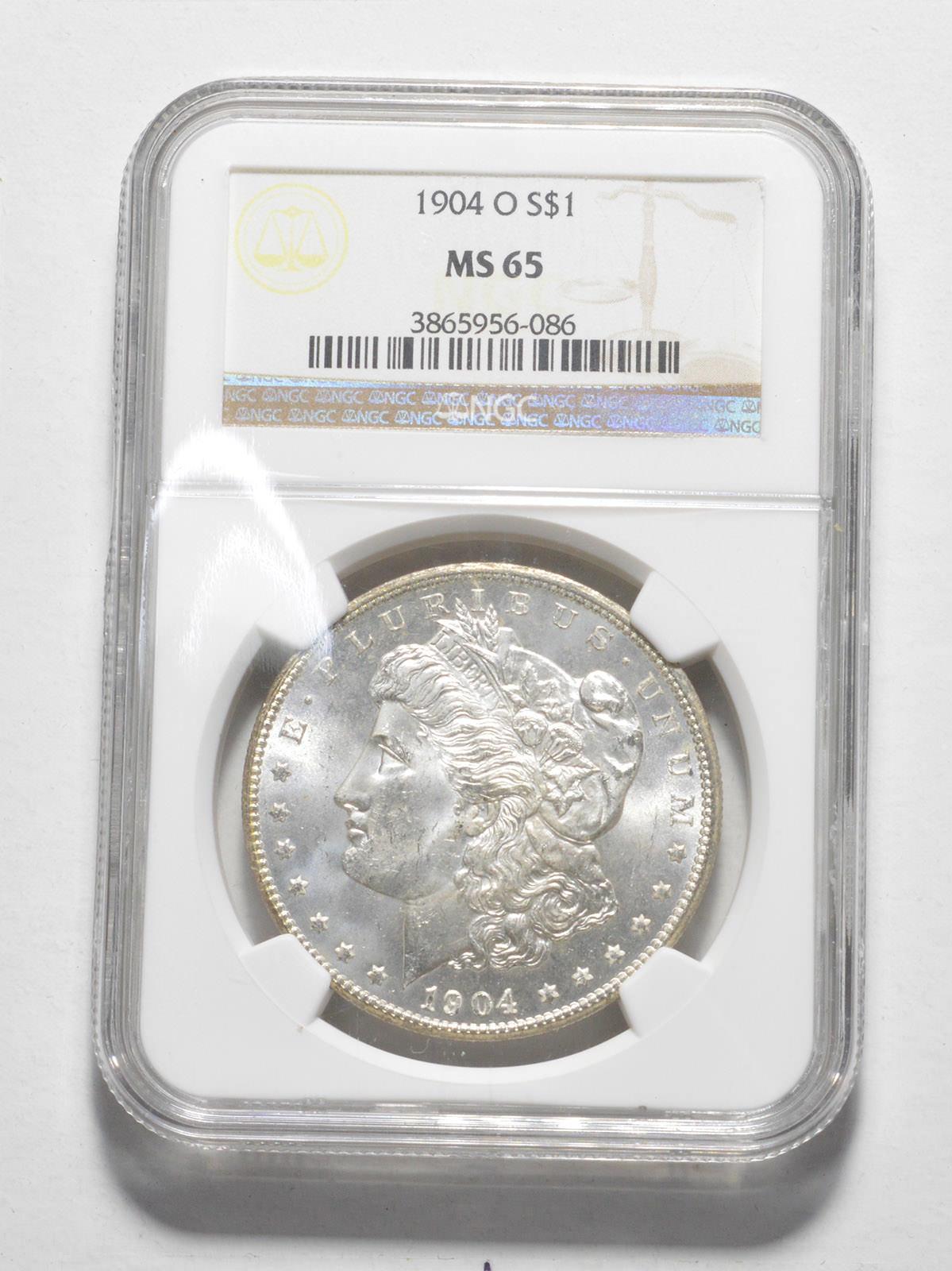 NGC MS65 1883-O US Morgan Silver Dollar $1