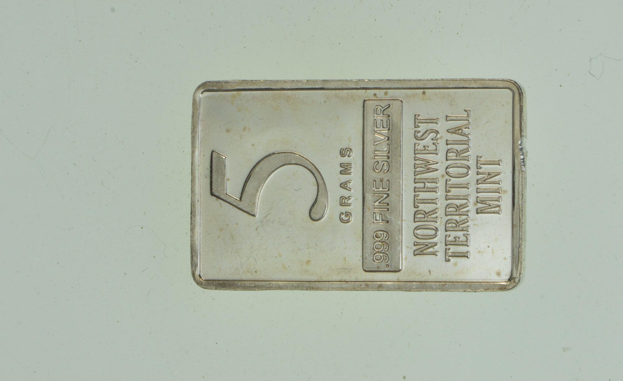 5 Grams Northwest Territorial Mint Bar