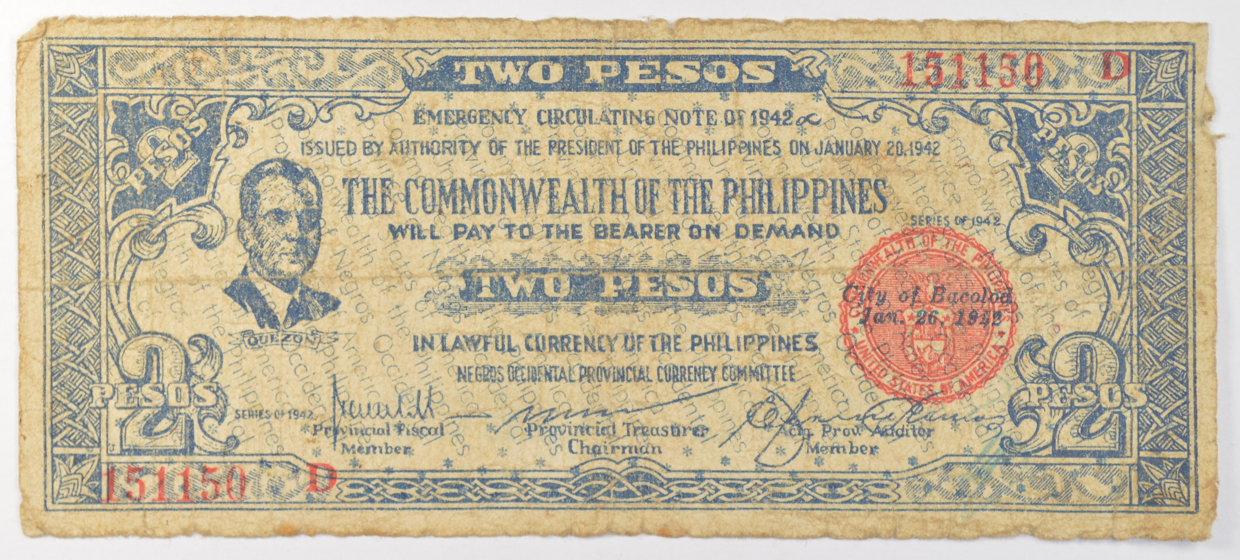 Rare WWII Era - Philippines - Currency - United States