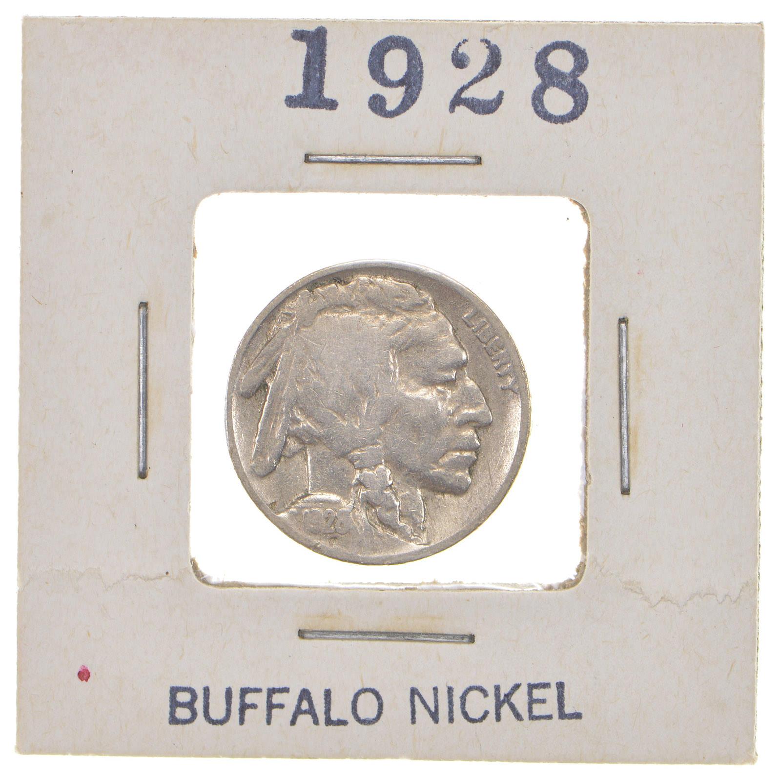 Roaring 20's - Early 1928 Buffalo Nickel - Look it up