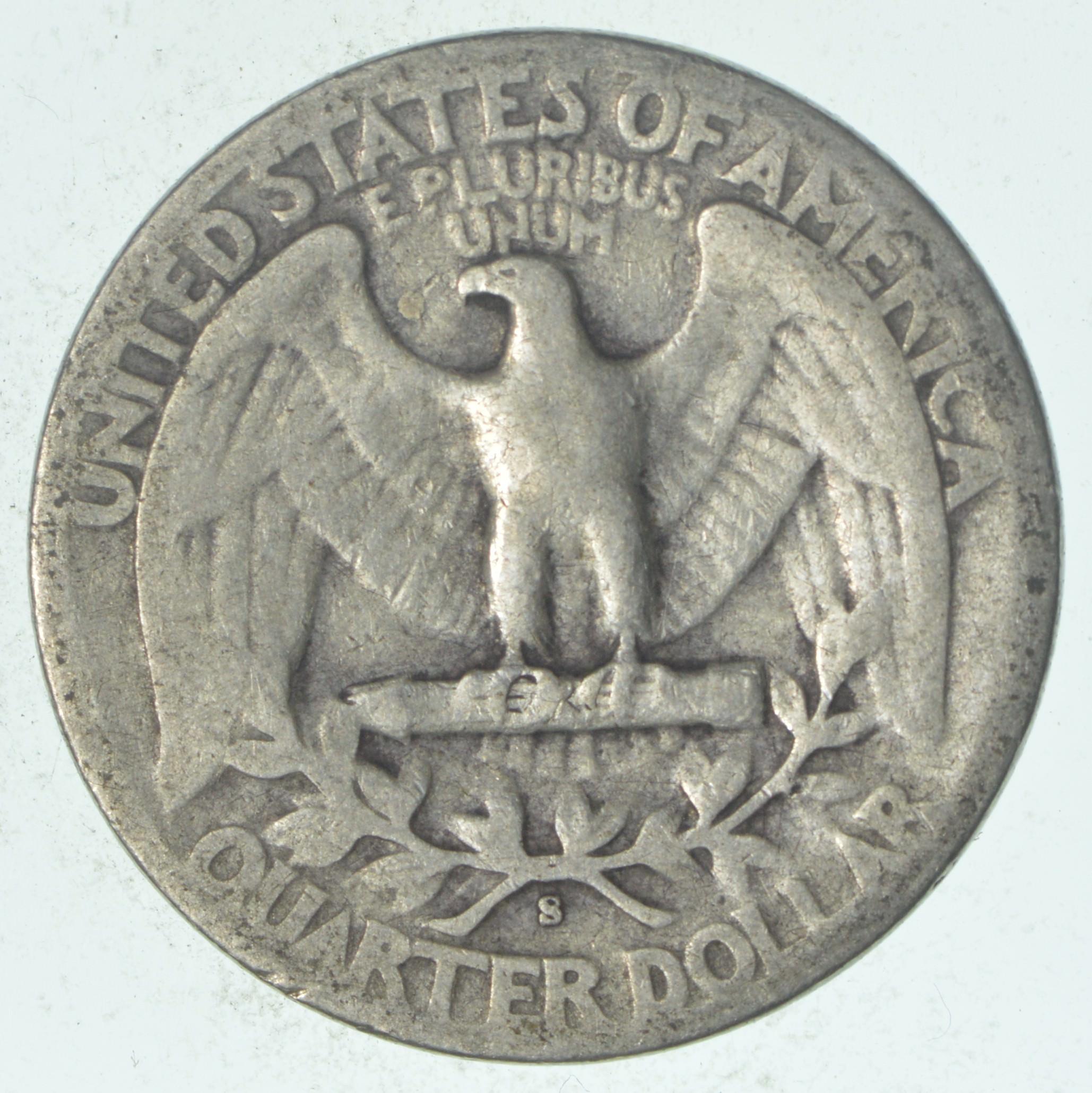 S Mint Mark Tough 1942 S Washington Quarter Rare