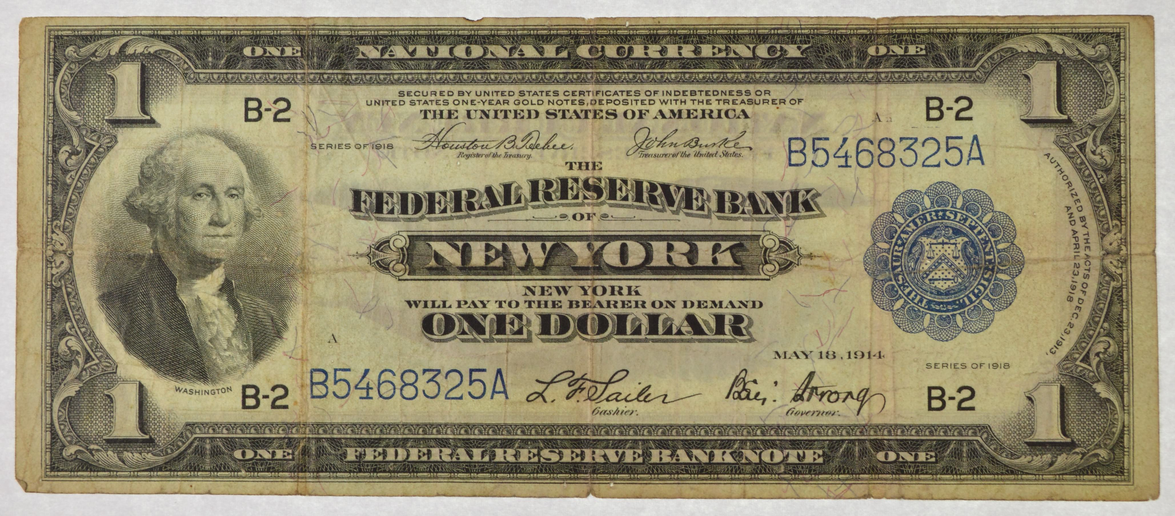 Series 1918 Large National Currency New