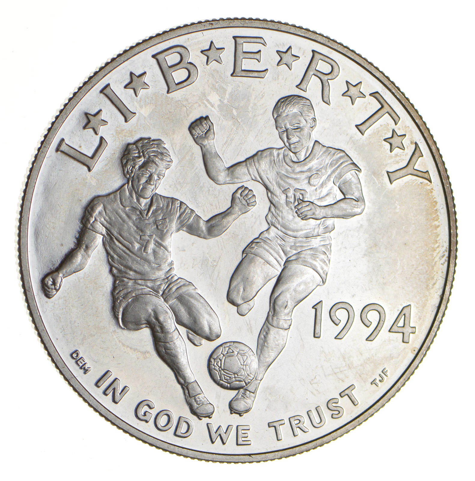 Commemorative Proof 90/% Silver In Capsule $1 1994-S  Proof World Cup Dollar