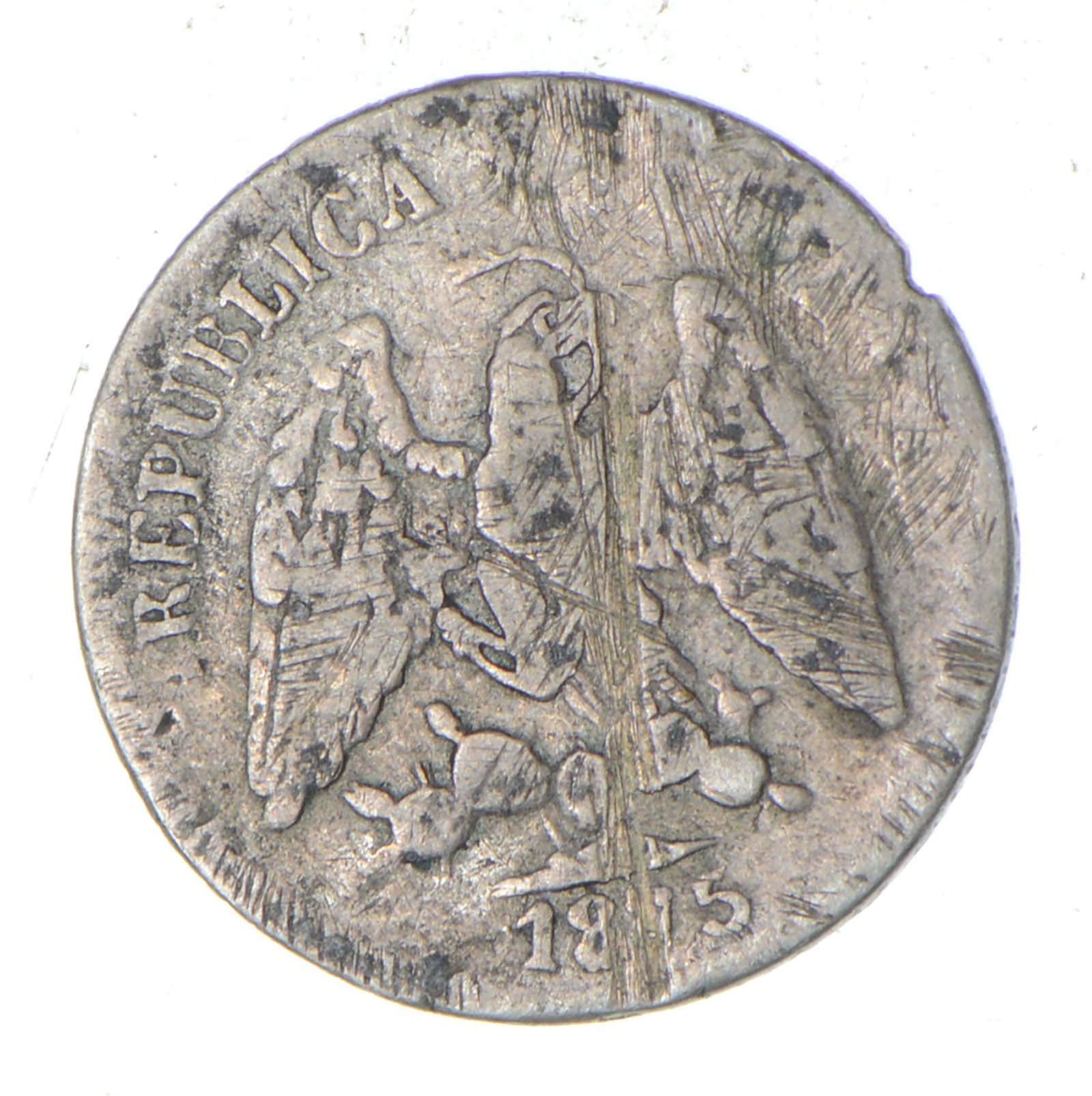 SILVER - Roughly the Size of a Nickel - 1875 Mexico 5