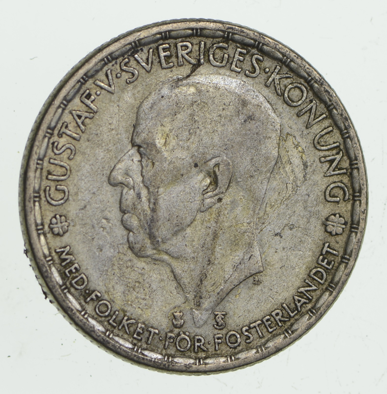 SILVER - Roughly the Size of a Quarter 1947 Sweden 1 Krona ...