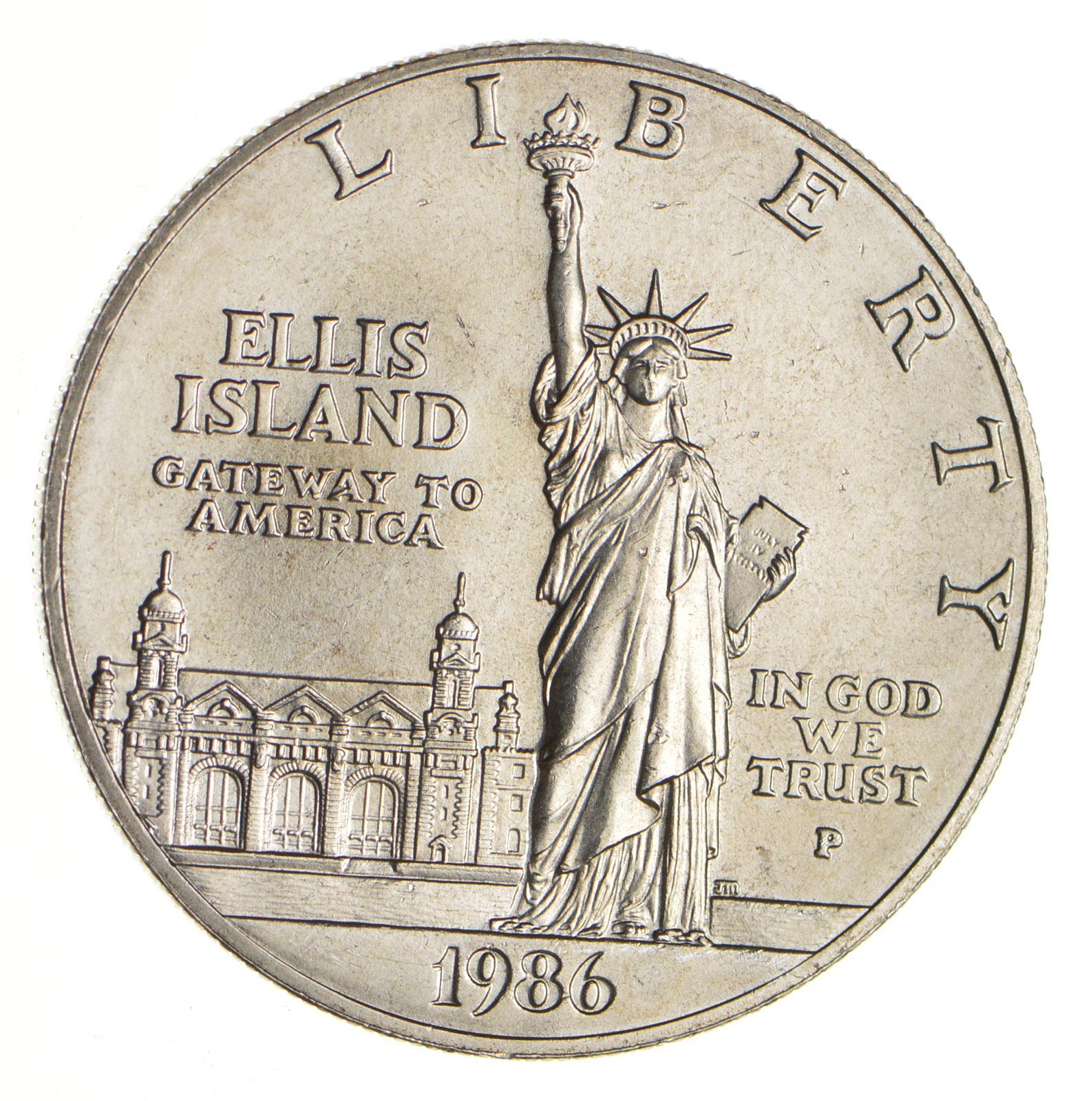 1986 Statue of Liberty Centennial Commemorative Proof 90/% Silver Dollar