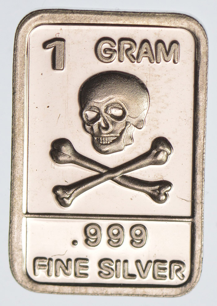 Silver Bar  Motorcycle 1 gram .999