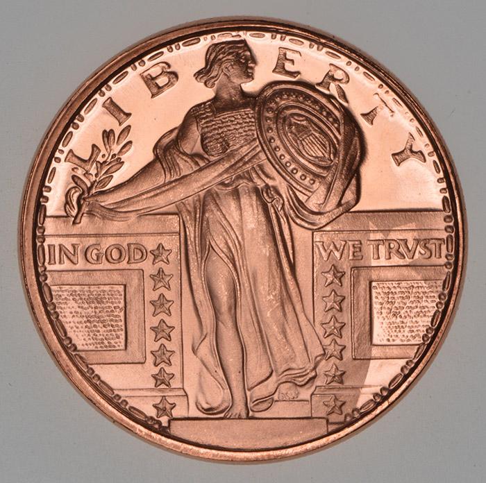 Other Bullion Bullion Active 1 Oz Copper Coin Liberty