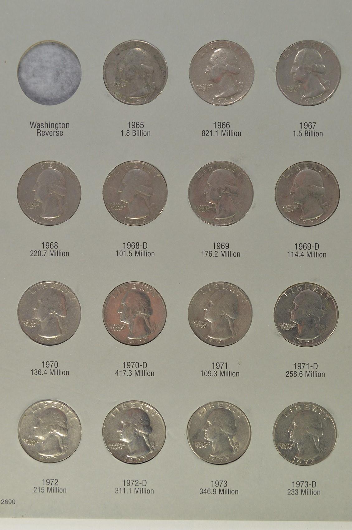 Washington Quarter Collection in Album - High Face Value Dollar