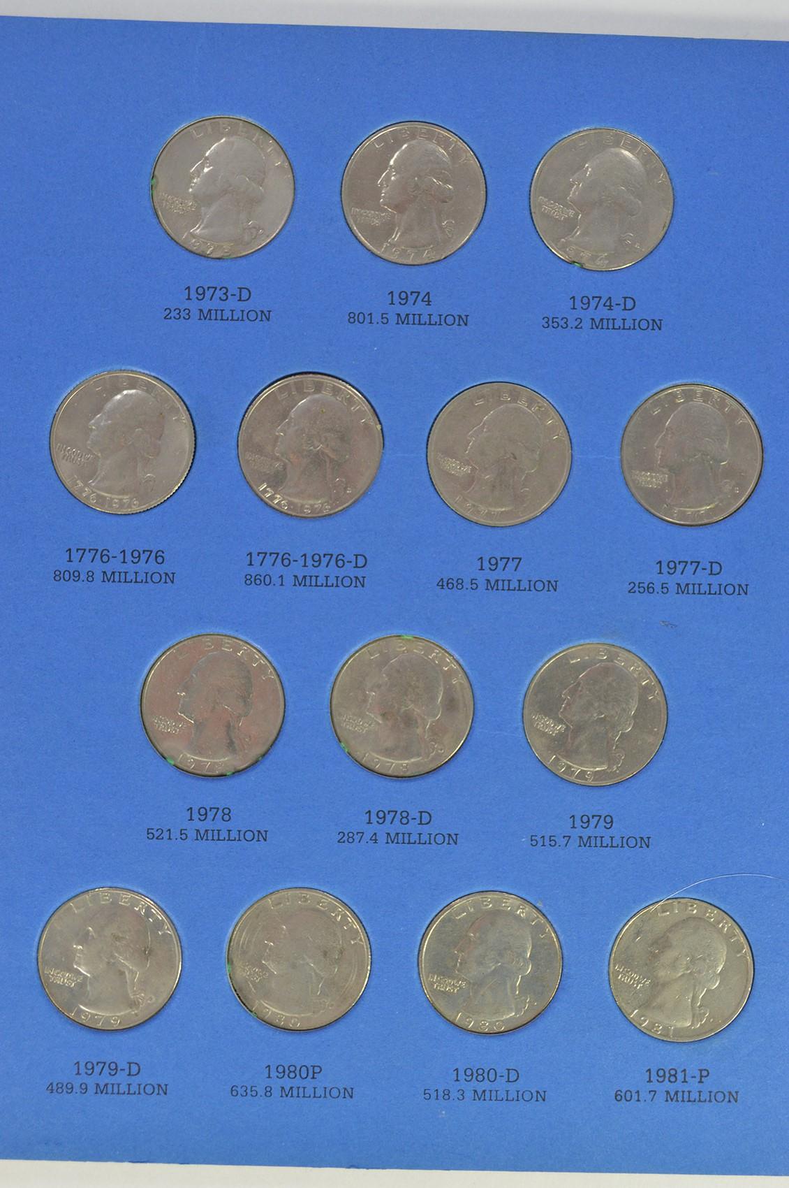Washington Quarter Collection in Album - High Face Value