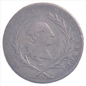 Brandenburg-ansbach Münzen Altdeutschland Bis 1871 20 Kreuzer 1765
