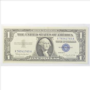B\' SERIES 1957-B Silver Certificate - Crisp $1.00 United States Note ...