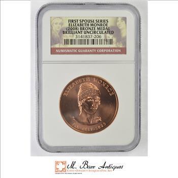 Brilliant Uncirculated 2008 Elizabeth Monroe Bronze Medal