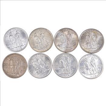 Lot (8) 1934 1935 & 1936 Boone Commemorative Half Dollars
