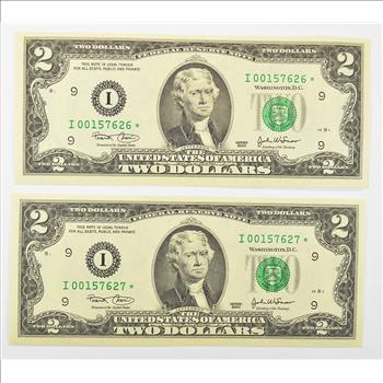 consecutive serial numbers on money