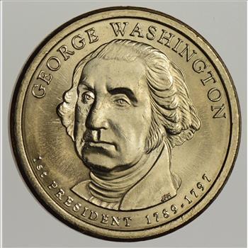 RARE Error - 2007 George Washington Dollar Coin - 1st
