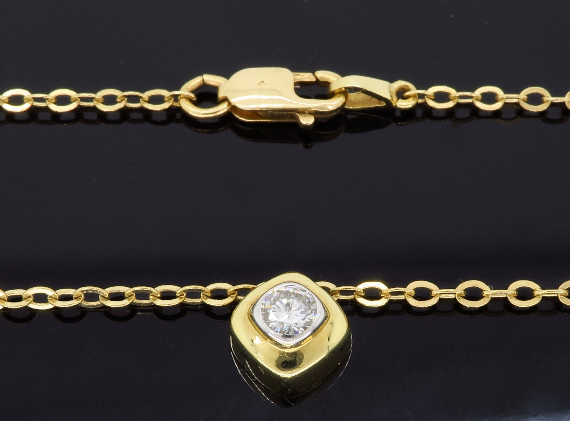 14k yellow gold dainty diamond necklace property room. Black Bedroom Furniture Sets. Home Design Ideas