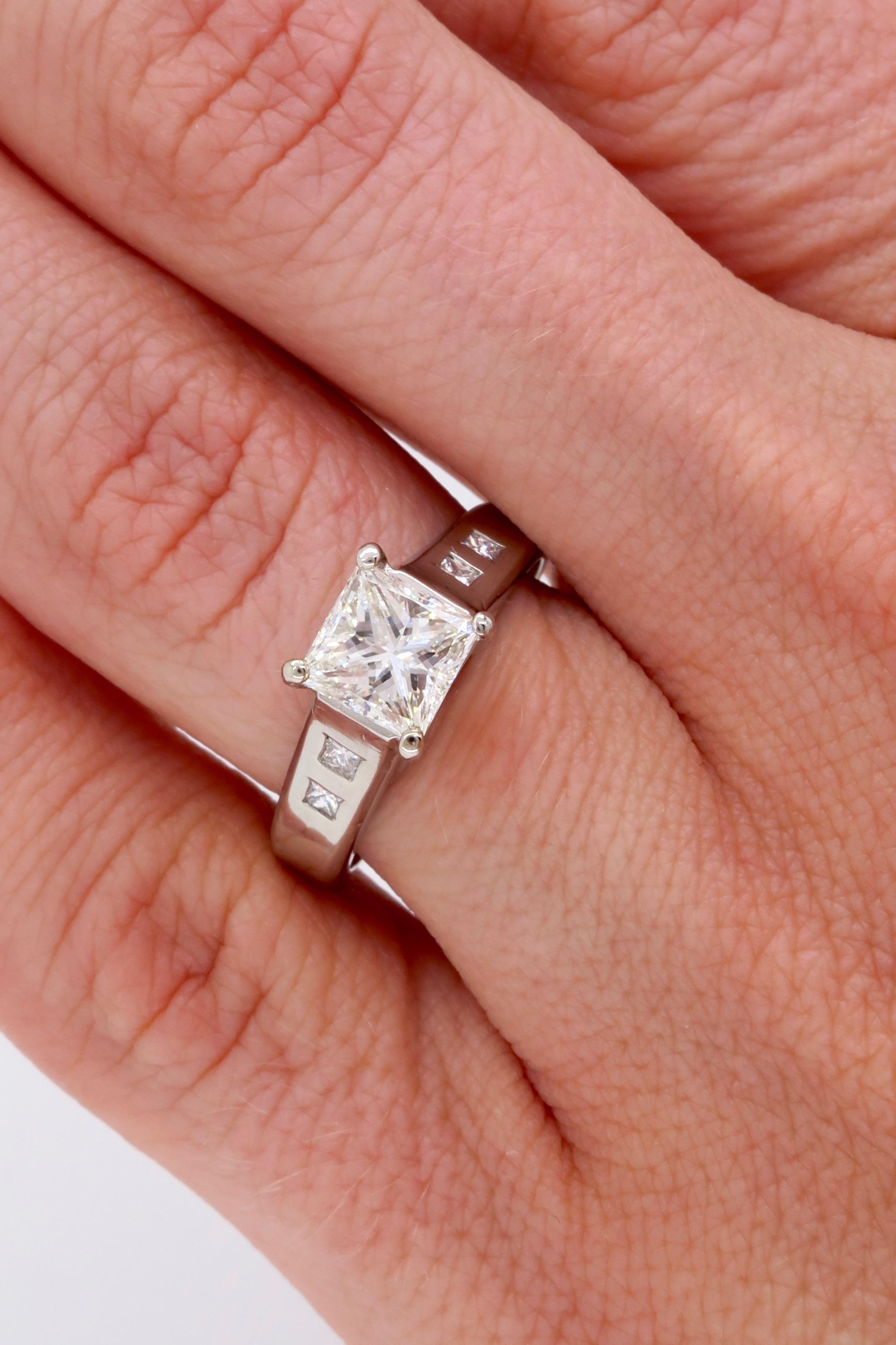 Platinum Jeff Cooper Diamond Engagement Ring | Property Room