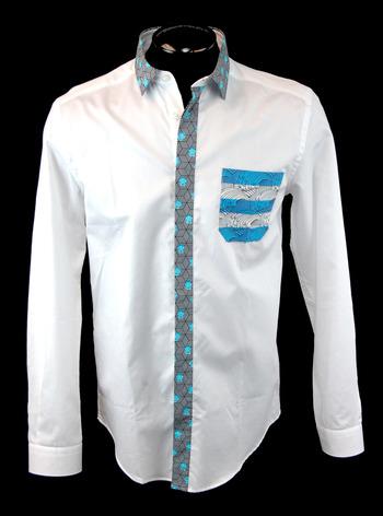 FRANKIE MORELLO MILAN Men's Long Sleeve Shirt - Size M - Retail $425.00