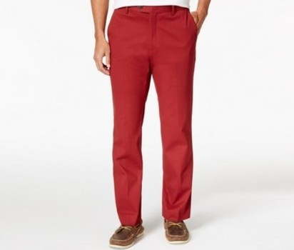 Men's Italian Designer PAL ZILERI Red Chino Pants - Size 56 EU - Retail $295.00