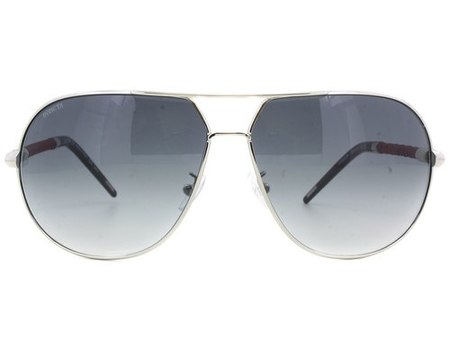 MADE IN ITALY New Invicta Gradient Silver Aviator Sunglasses