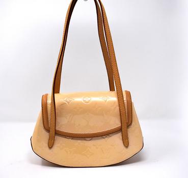 Louis Vuitton Biscayne Vernis Beige Leather Handbag Shoulder Bag $2799