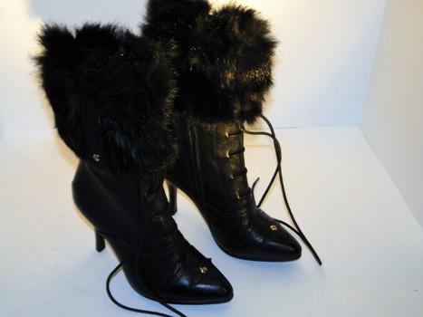 LOUIS VUITTON Furry Boots Size 5-1/2 MSRP $1,700.00