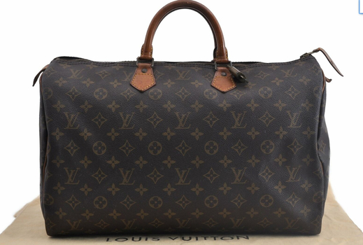 Louis Vuitton Monogram Speedy 40 Handbag 407 MSRP $3299