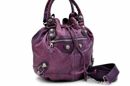 BALENCIAGA Shoulder HandBag Leather Purple MSRP $2799