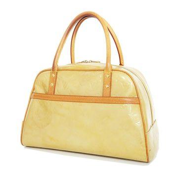 LOUIS VUITTON Tompkins Square Canary Steel Vernis Handbag