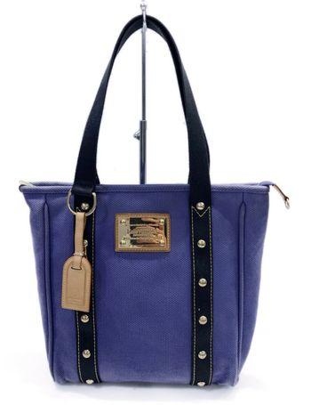 Louis Vuitton Tote Bag Antigua Cabas MM Blue