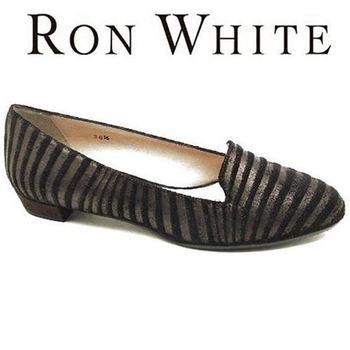 RON WHITE HESTER ZEBRA LOAFER FLATS, 7